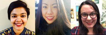 New staff (L-R): Andrea Dsouza, Erin Yun, Liz Otero